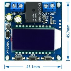 Battery charging control module is full of power-off DC voltage protection