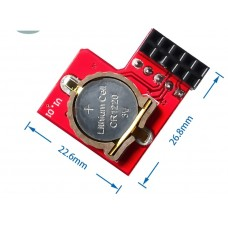 Raspberry Pi RTC clock module battery is removable and replaceable