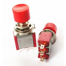 Push button switch PS-102 202 with red riding cap round