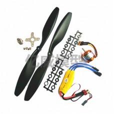 Brushless motor Xinsida XXD A2212 KV1000 30A ESC + propeller
