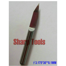 3.175MM Shank, 30 Angle, 0.1MM Flat Bottom CNC Router Tools, Cutting Bits,Carving Tools,V Shape Engraving Bit,PCB Cutters